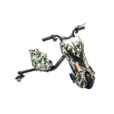 Elektrische Drift Trike Kart 250W 36V Camouflage Groen