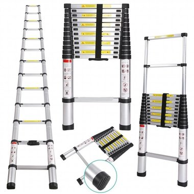 Telescopische Ladder 2.6 Meter - Aluminium