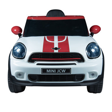 Elektrische Kinderauto Mini Cooper Paceman Wit 12V Met Afstandsbediening