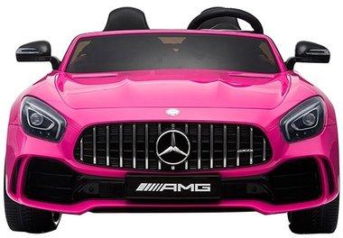 Elektrische Kinderauto Mercedes Benz GT R Roze 2 Persoons Auto 24V Met Afstandsbediening FULL OPTIONS