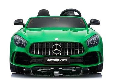 Elektrische Kinderauto Mercedes Benz GT R Groen 2 Persoons Auto 24V Met Afstandsbediening FULL OPTIONS