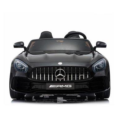 Elektrische Kinderauto Mercedes Benz GT R Zwart 2 Persoons Auto 24V Met Afstandsbediening FULL OPTIONS