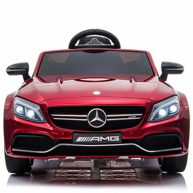 Elektrische Kinderauto Mercedes-Benz C63 AMG Rood 12V Met Afstandsbediening FULL OPTION