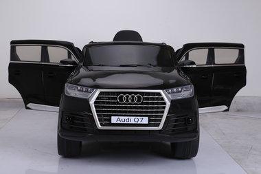 Elektrische Kinderauto Audi Q7 Zwart 12V Met Afstandsbediening
