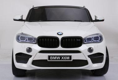 Elektrische Kinderauto BMW X6M Wit 12V Met Afstandsbediening 2 Persoons Auto