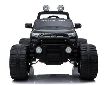 Elektrische Kinderauto Ford Monster Truck 4x4 - Zwart met Mp4 Scherm en Afstandsbediening FULL OPTION