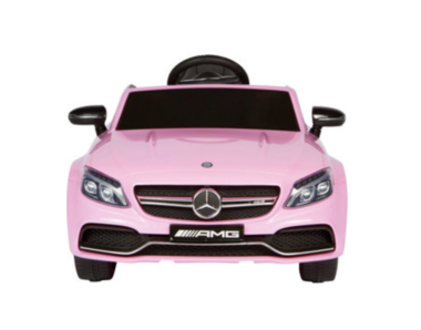 Elektrische Kinderauto Mercedes-Benz C63 AMG Roze 12V Met Afstandsbediening FULL OPTION