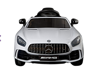 Elektrische Kinderauto Mercedes-Benz GTR AMG Wit 12V Met Afstandsbediening FULL OPTIONS