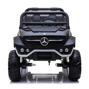 Elektrische Kinderauto Mercedes Benz Unimog Zwart 2 Persoons 4x4 met Mp4 Scherm en Afstandsbediening FULL OPTIONS