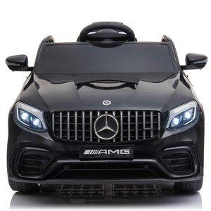 Elektrische Kinderauto Mercedes Benz GLC 63 S Zwart 12V Met Afstandsbediening FULL OPTIONS