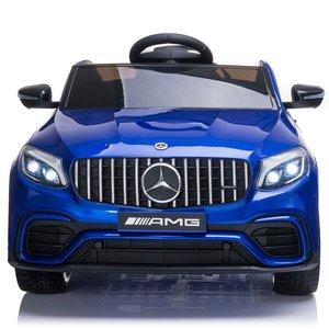 Elektrische Kinderauto Mercedes Benz GLC 63 S Blauw 12V Met Afstandsbediening FULL OPTIONS