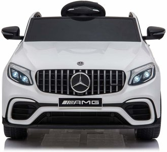 Elektrische Kinderauto Mercedes Benz GLC 63 S Wit 12V Met Afstandsbediening FULL OPTIONS