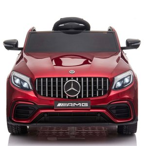 Elektrische Kinderauto Mercedes Benz GLC 63 S Rood 12V Met Afstandsbediening FULL OPTIONS