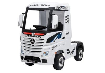Elektrische Kinder vrachtauto Mercedes Actross Truck 4x4 Wit 24V Met Afstandsbediening FULL OPTIONS