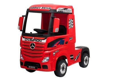 Elektrische Kinder vrachtauto Mercedes Actross Truck 4x4 Rood 24V Met Afstandsbediening FULL OPTIONS