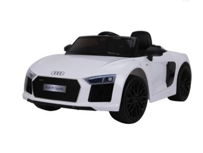 Elektrische Kinderauto Audi R8 Spyder Wit 12V Met Afstandsbediening