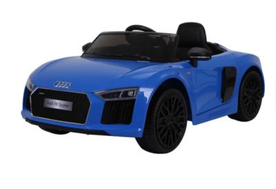 Elektrische Kinderauto Audi R8 Spyder Blauw 12V Met Afstandsbediening