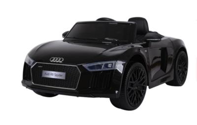 Elektrische Kinderauto Audi R8 Spyder Zwart 12V Met Afstandsbediening