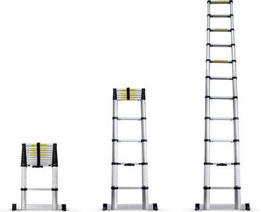 Ultratoolz Telescopische Ladder 4.8 Meter - Met stabilisatiebalk - Aluminium