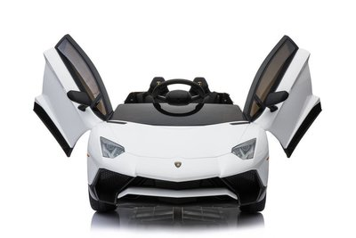 Elektrische Kinderauto Lamborghini Aventador SV Wit 12V Met Afstandsbediening