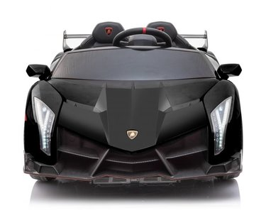 Elektrische Kinderauto Lamborghini Veneno 4x4 Zwart 2 persoons 24V Met Afstandsbediening FULL OPTION