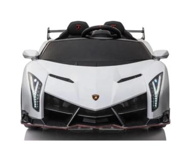 Elektrische Kinderauto Lamborghini Veneno 4x4 Wit 2 persoons 24V Met Afstandsbediening FULL OPTION