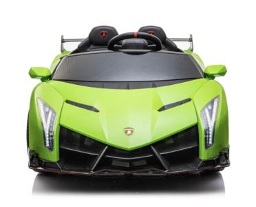 Elektrische Kinderauto Lamborghini Veneno 4x4 Gif Groen 2 persoons 24V Met Afstandsbediening FULL OPTION