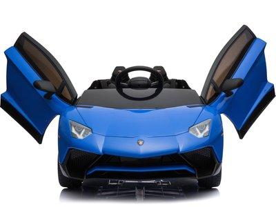 Elektrische Kinderauto Lamborghini Aventador SV Blauw 12V Met Afstandsbediening