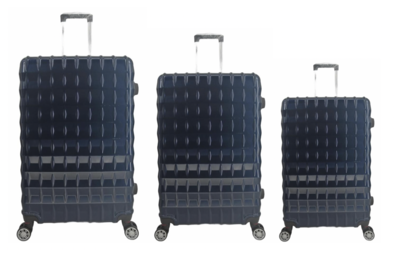 UltraTravel 3-delige reiskofferset - polycarbonaat - 360 graden draaiwielen - Blauw