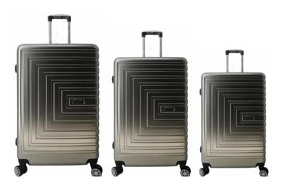 UltraTravel 3-delige reiskofferset - polycarbonaat - 360 graden draaiwielen - Silver Grijs