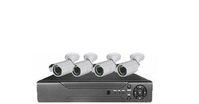 Beveiligings camera set met 4 cameras WIT AHD