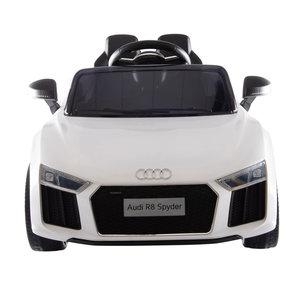 Elektrische Kinderauto Audi R8 Wit 12V Met Afstandsbediening