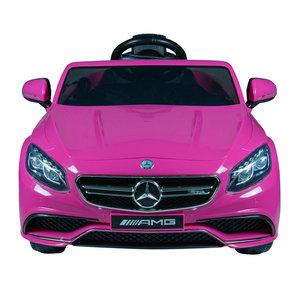 Beste Elektrische Kinderauto Mercedes Benz S63 AMG Roze 12V Met TZ-49