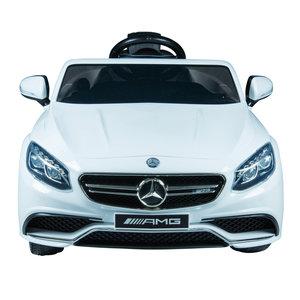 Elektrische Kinderauto Mercedes Benz S63 AMG Wit 12V Met Afstandsbediening
