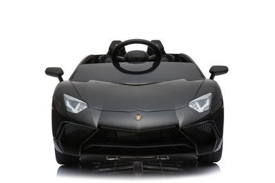 Elektrische Kinderauto Lamborghini Aventador SV Zwart 12V Met Afstandsbediening