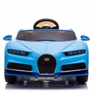 Elektrische Kinderauto Bugatti Chiron 12V met Afstandsbediening - Blauw