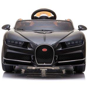 Elektrische Kinderauto Bugatti Chiron 12V met Afstandsbediening - Zwart